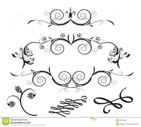 design elements flowers decorative floral design elements stock photo image