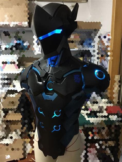 overwatch genji carbon fiber skin cosplay armor buy