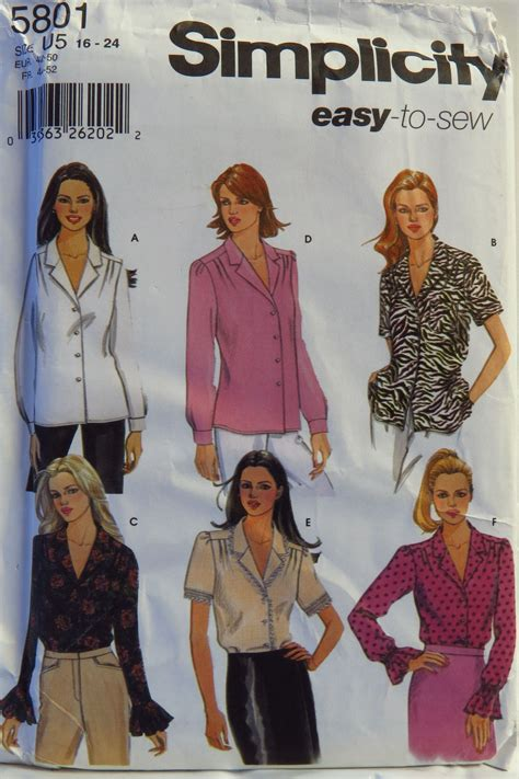 Sleeve Blouse Simplicity simplicity 5801 misses blouse with sleeve variations