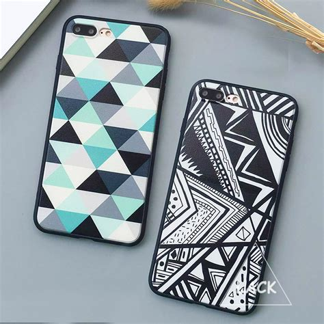 Geometric Softcase Iphone 5 5s 6 6s 6 6s 7 7 8 8 Plus fashion geometry triangle for iphone 7 for iphone7 plus 6 6s plus 5 5s back cover