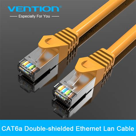 Lan Cat 6 Uk 15 M Highspeed vention high speed cat6 flat utp ethernet network cable rj45 patch lan cable in ethernet cables