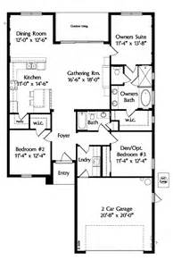 One Level Floor Plans by House Plan 64638 At Familyhomeplans Com