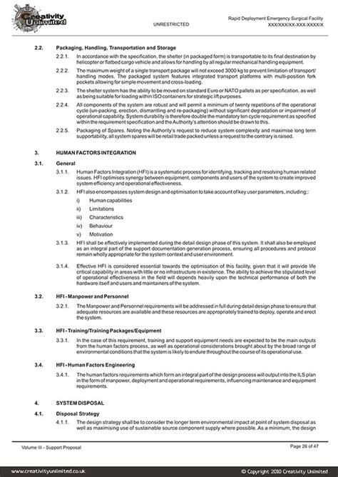 creative technical documentation proposal writing on