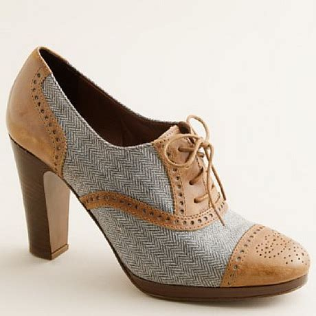 oxford shoes with heel high heel oxfords