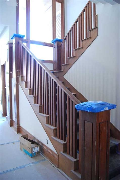 stair banister installation install wood stair railing jpg delmar ideas pinterest