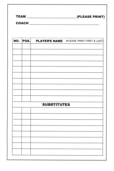 Baseball Batting Lineup Cards Printable