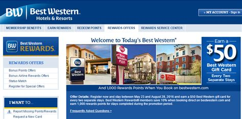 Best Western Hotel Gift Cards - best western 2 stays earn 50 gift card may 23 august 28 2016 loyalty traveler