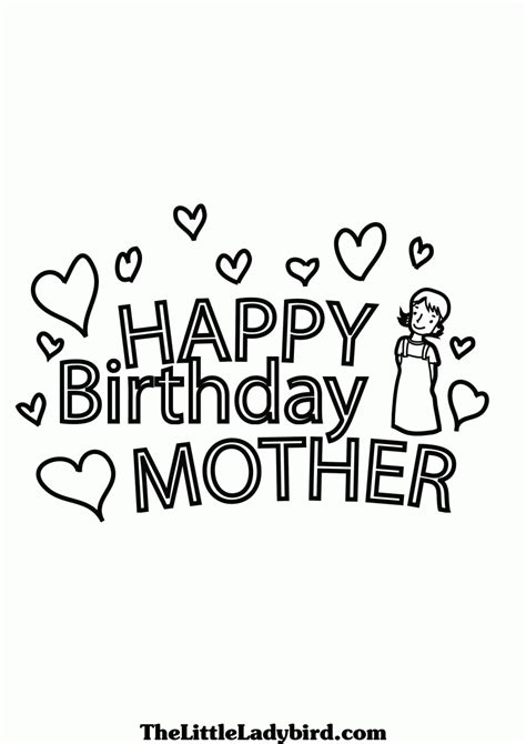 printable coloring pages happy birthday mom happy birthday mom printable coloring pages coloring home