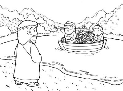 coloring pages jesus calling his disciples jesus calls his disciples