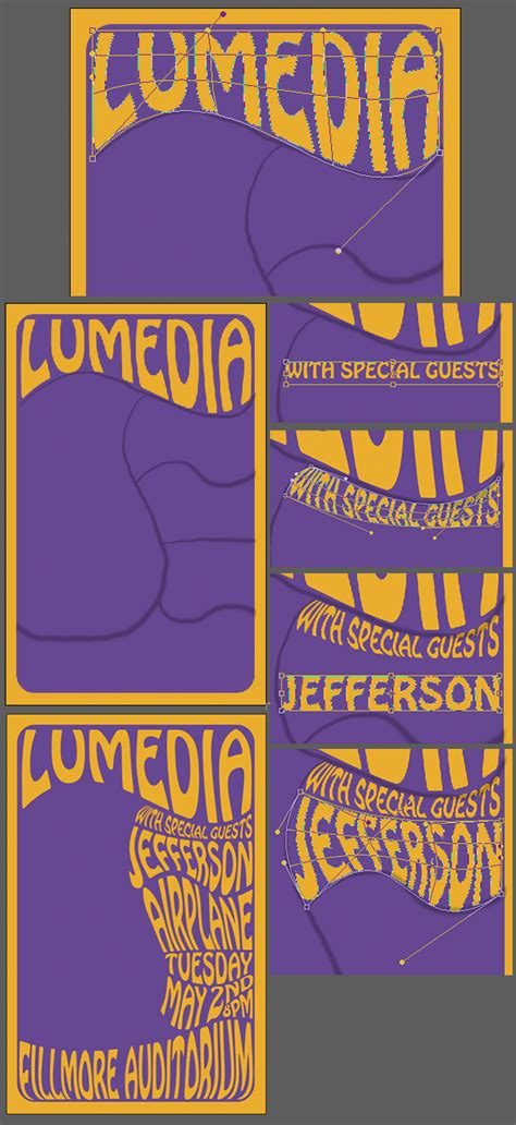 typography 60s create a 60 s psychedelic style concert poster