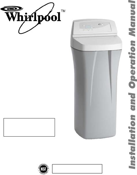 whirlpool water softener whirlpool water system whes30 user guide manualsonline