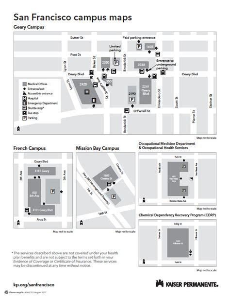 kaiser permanente san francisco map kaiser permanente san francisco map 28 images geary