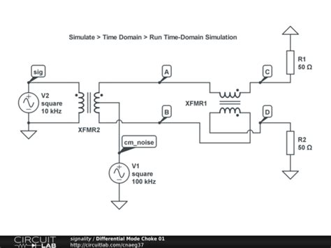 differential mode choke datasheet differential mode choke 01 circuitlab