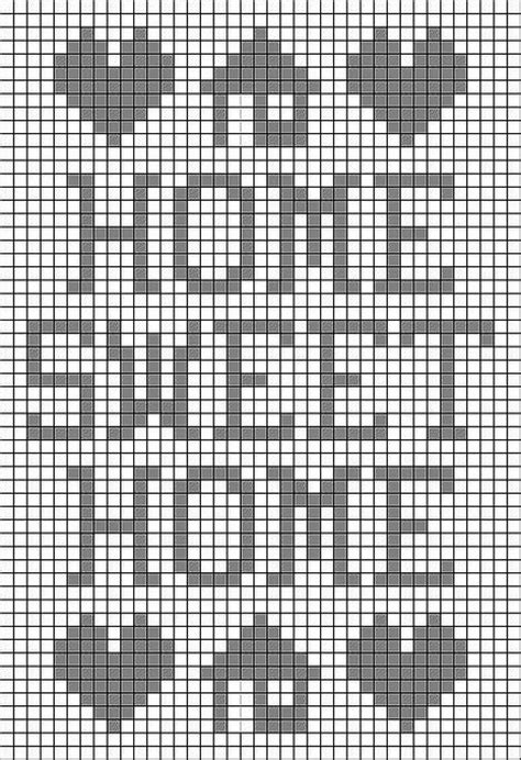 home patterns home sweet home filet crochet pattern crocheting and