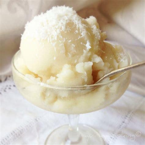 coco vanilla coconut vanilla sorbet quirky cooking
