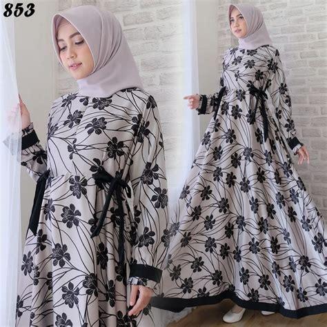 Baju Wanita Gamis Maxmara Syarii Muslim Cantik Modern Modis Lucu baju gamis modern maxmara c853 busana muslim remaja