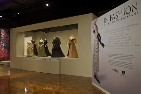 Of Fashion Exhibition fashion exhibitions in queensland a history the