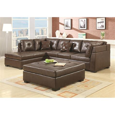 Sofa Leather Sectional Darie Brown Leather Sectional Sofa Modern Sofa Company
