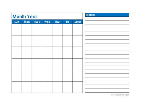 monthly blank calendar  blue shade  printable templates