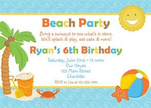 birthday invites top 10 beach birthday invitations ideas