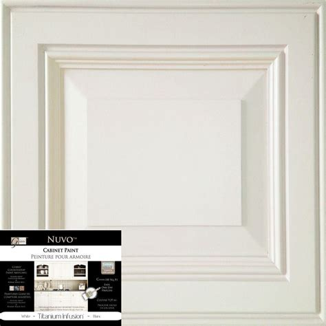 nuvo cabinet paint how to nuvo 2 qt titanium infusion white cabinet paint kit fg nu titan r the home depot