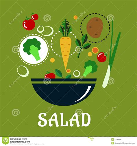 slices of design salad bowl by bosa stylepark cooking salad design with vegetables and stock vector