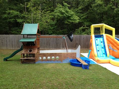 pirate swing set full pirate ship swing set pirate party pinterest