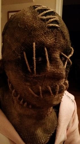 homemade burlap mask