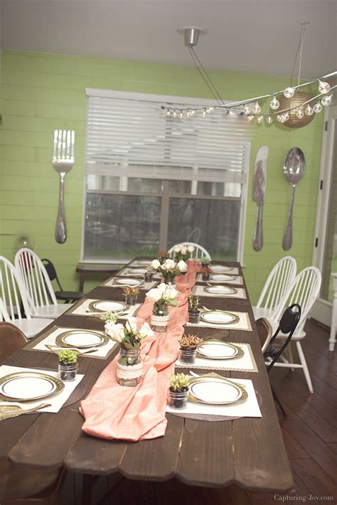 set up dinner table for any party whisk affair floral 30th birthday dinner party capturing joy with