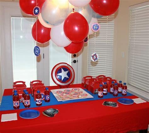 capitan america decoracion ambientacion cotilln fiestas bolsitas de cumplea 241 os capitan america buscar con google