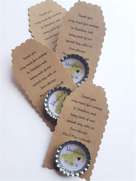 Personalised Wedding Favours by Unique Wedding Ideas Bottle Cap Magnets Favours Gifts