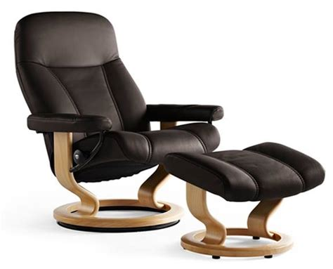 stress recliners stressless consul leather recliner chairs