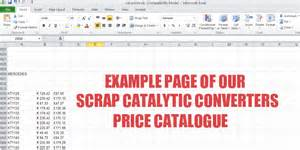 Price For A Cadillac Converter Scrap Catalytic Converters Prices