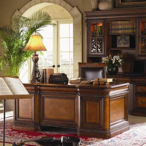 aspenhome office furniture aspenhome napa 7 drawer executive desk with ash burl