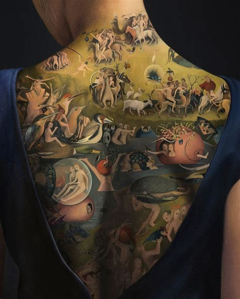 painting tattoos contemporary painter inspired by the garden of
