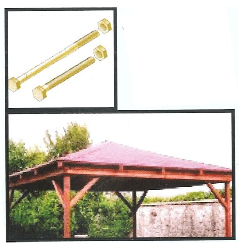 kit gazebo in legno ferramenta in kit kit per gazebo con tetto