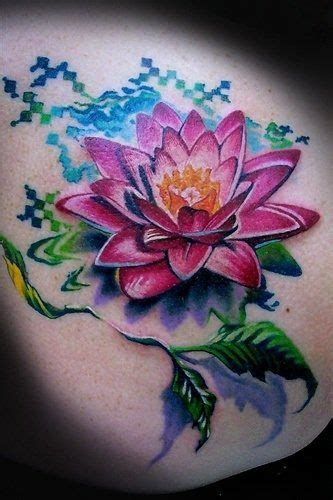 flower background tattoo designs a colorful and creative lotus flower design that is