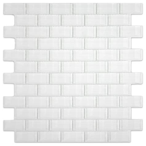 modern subway tile white mini glass subway tile modern tile by subway