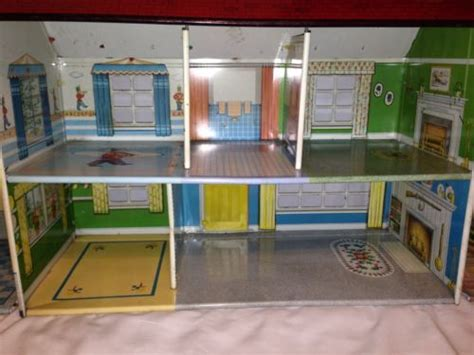 vintage metal doll houses marx tin metal dollhouse