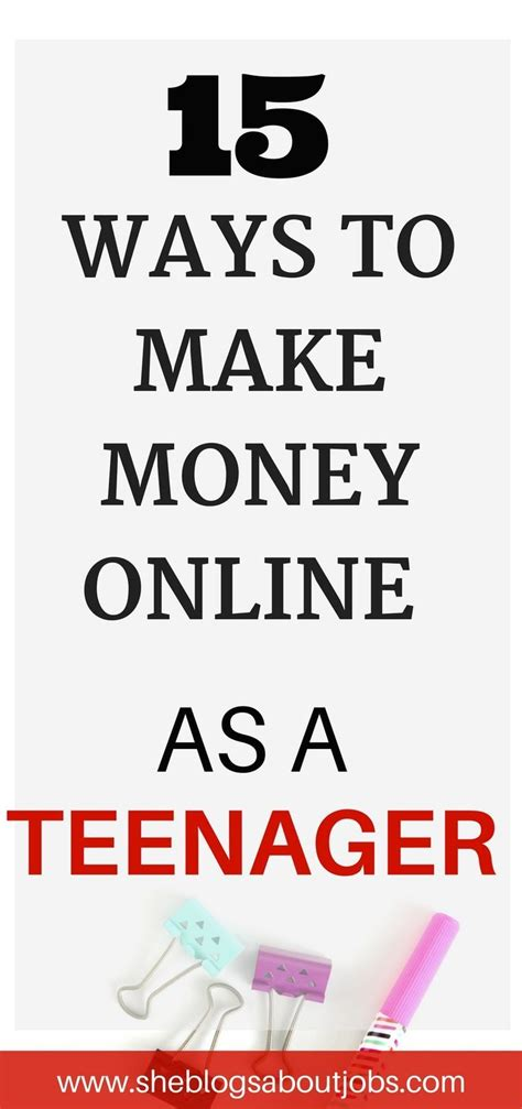 Make Money Online Teenager Ways - best 25 teen jobs ideas on pinterest job interview answers typical interview