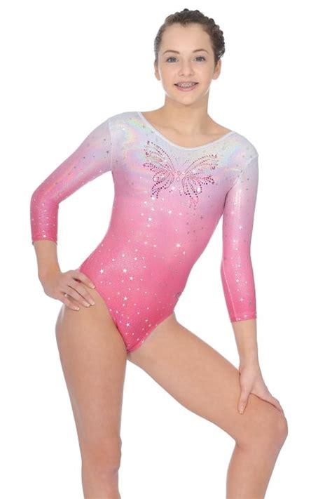 preteen models zone soda 3 4 sleeve gymnastics leotard the zone