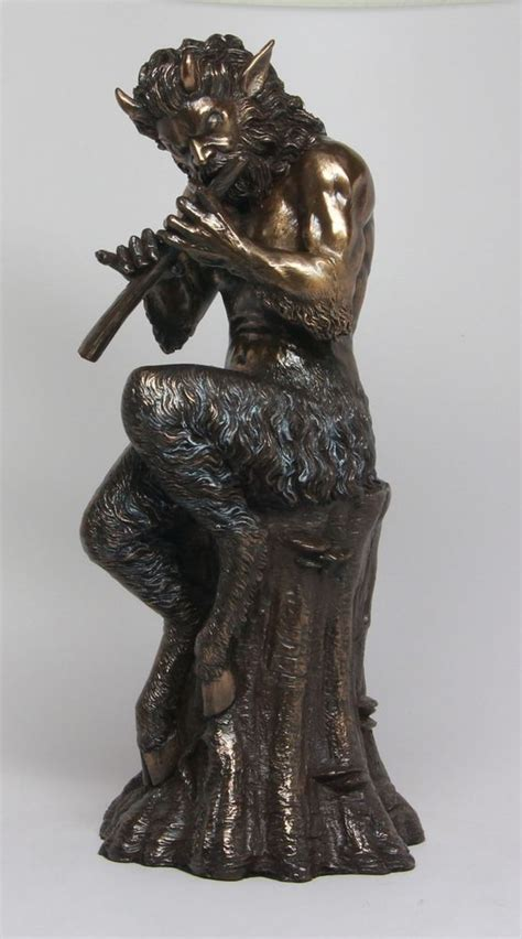 god satyr statue companion of pan and dionysus