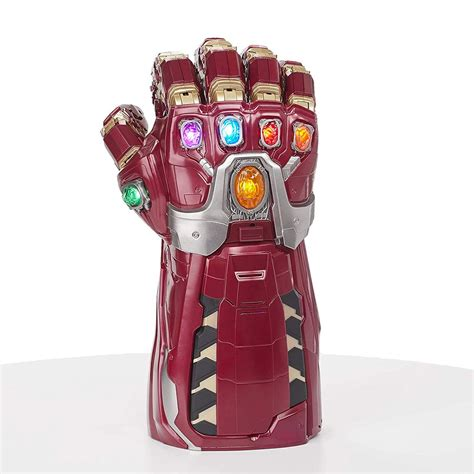 wear tony starks power gauntlet avengers endgame
