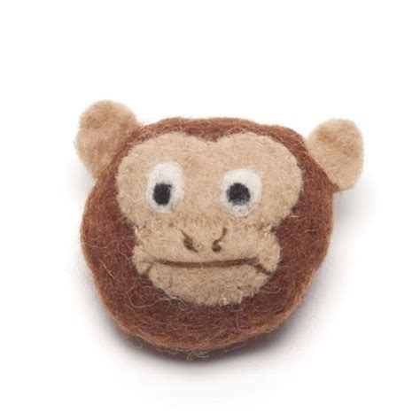 Handmade Felt - handmade felt monkey brooch by felt so