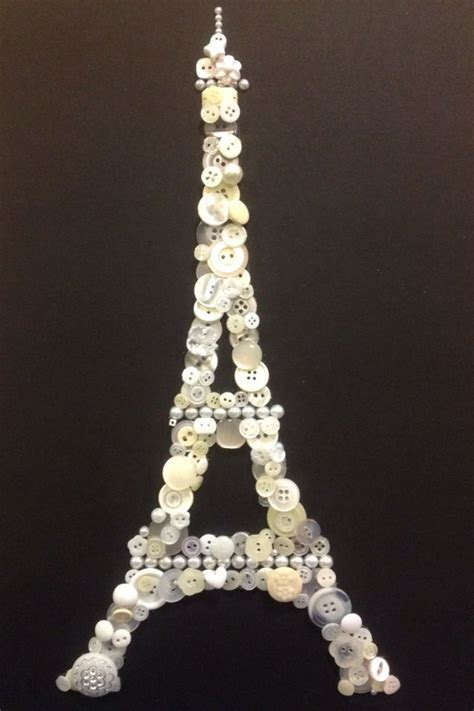 christmas crafts for kids from paris button craft eiffel tower black an white the of buttons button