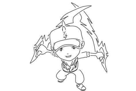 cara menggambar anime hitam putih cara menggambar boboiboy halilintar a k a thunderstorm