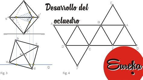 figuras geometricas hechas en cartulina tutorial de dibujo desarrollo de un octaedro youtube