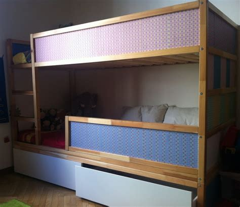 bunk bed hacks kura bunk bed with underbed storage ikea hackers ikea