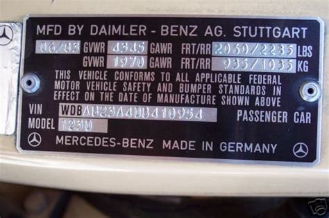 can anyone decode this vin number for me thanks peachparts mercedes shopforum