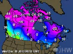 current temperature canada map